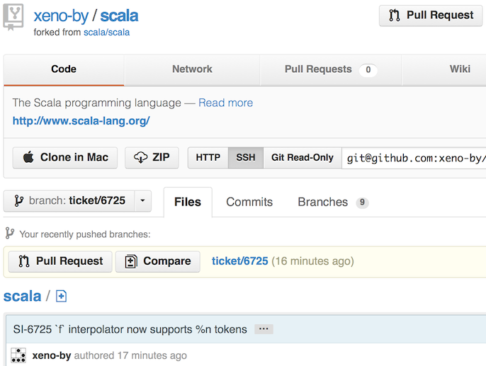 Submit a pull request